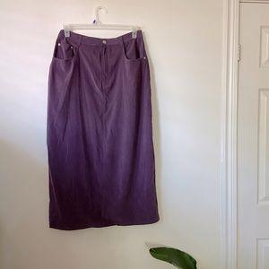 Vintage Denim & Co Purple Long Skirt